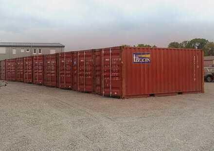 Lagerfläche, Stellfläche in Seecontainer / Lagercontainer wind- und wasserdicht