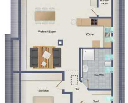 Vollständig renovierte 2,5-Zimmer-Dachgeschosswohnung mit Balkon und Einbauküche in Esslingen