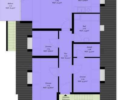 Erstbezug nach Sanierung mit Balkon: stilvolle 3-Zimmer-DG-Wohnung in Göttingen