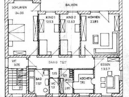Gepflegte 5-Zimmer-Wohnung mit Balkon in Mainburg- Sandelzhausen