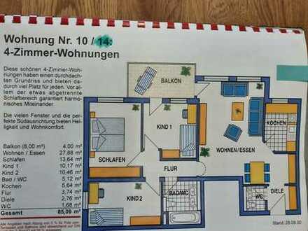 4 Zimmerwohung 390000 € - 85.09 m² - 4.0 Zi. gerne auch zur Kapitalanlage nutzbar