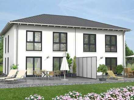 Doppelhaushälfte: Massiv, Schlüsselfertig Preis incl. Grundstück.