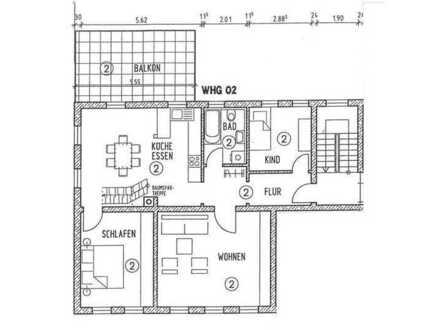 RE/MAX - RARITÄT in CR-Jagstheim: 6-Zimmer-Maisonette mit großem Balkon und Garage