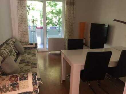53 m2 komplett möblierte Wohnung mit Einbauküche und Balkon in Mülheim, Köln