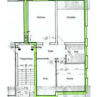 ++Komplett renoviert++ 3-Raum Wohnung mit Laminat, Tageslicht Badezimmer und PKW Stellplatz