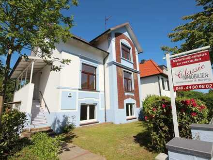 Frisch sanierte Jugendstilvilla  in Hamburg - Sülldorf mit 3 Wohnungen  - frei lieferbar -