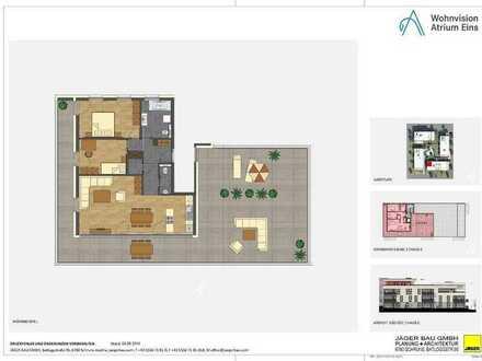 Haus C: 3 Zimmer-Penthouse im 3. Obergeschoss mit großer Dachterrasse