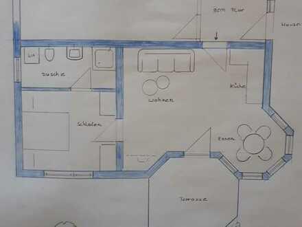 Gepflegte 2-Zimmer Wohnung mit Terrasse in Westerheim