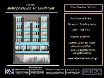 Metropolregion-Rhein-Neckar Rendite-Anlage Büro-u. Geschäftshaus 6 große Mieteinheiten zentrale Lage