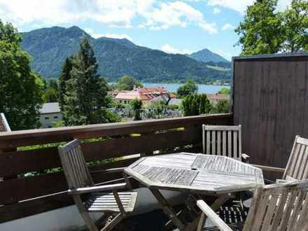 Sonnige 2-Zimmer-Wohnung mit großem Balkon und Seeblick in Tegernsee