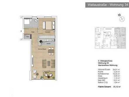 Bayside Mainz – Großzügige 2-Zimmer-Balkon-Wohnung