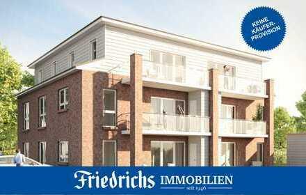 Neubau-Obergeschoss-ETW mit Balkon in einem KfW-55-Mehrfamilienhaus in zentraler Lage in Edewecht