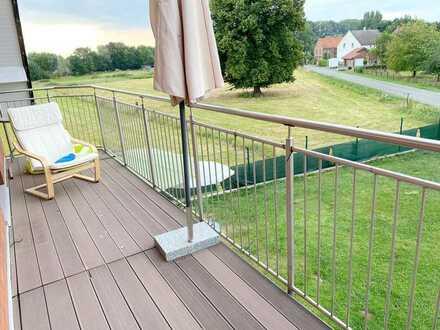 Maisonette-Wohnung mit Weitblick über Wiesen und Felder