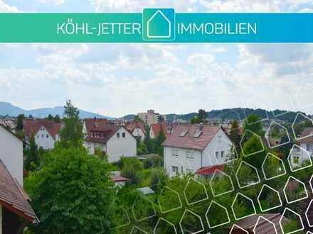Niveauvolle 3,5 Zi.-Maisonettewohnung mit Südbalkon und fantastischem Ausblick über Balingen!