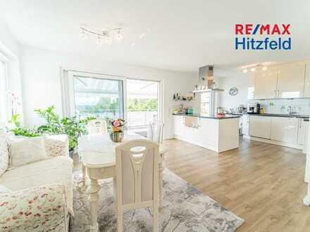 Gehobenes Penthouse mit ca. 152 m² Wohnfläche, 4 Stellplätzen und traumhaftem Blick ins Rheintal!