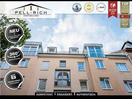 LOGENPLATZ: Bezugsfreie Maisonette-Wohnung mit atemberaubendem Balkonblick in der Weststadt
