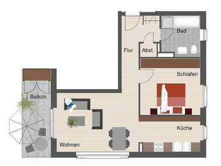 Helle und sonnige 2-Zimmer Mietwohnung mit EBK auf dem Flugfeld in Böblingen