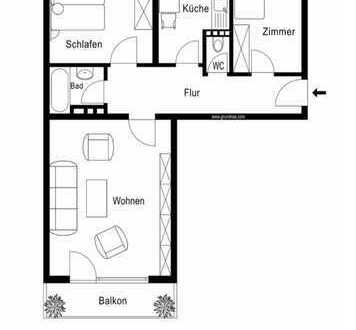 Schöne drei Zimmer Wohnung in München, Obergiesing