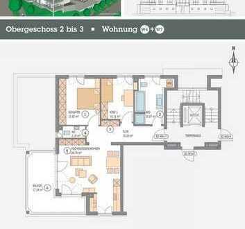 3,5 Zimmer ** 2.OG ** 81,86m² **Wohnträume werden wahr in Aulendorf: zentral. nah. ideal