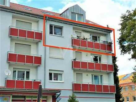 helle Balkon-Wohnung