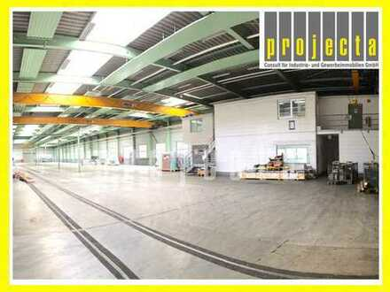 PROJECTA: ca. 4.837 m² eben. Produktionshalle   10 Kräne (0,25t - 5t)   7m UKB ***0151-51016422***
