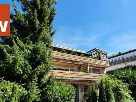 Wohnung mit großer Dachterrasse im Grünen