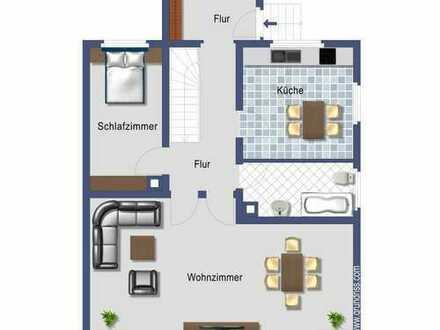 Erdgeschosswohnung mit ca. 74 m² Wohnfläche und zusätzlicher Nutzfläche im Herzen von Stettfeld!
