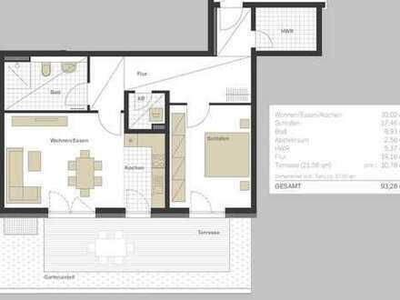 Erstbezug: exklusive 2,5-Zimmer-Terrassenwohnung mit Süd-Aussicht im Wolfsberg-Palais