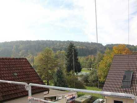Helle Maisonette-Wohnung mit besonderem Flair, großer Dachterrasse und herrlichem Blick ins Grüne