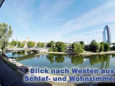 Traumwohnung direkt an der Donau mit Münsterblick