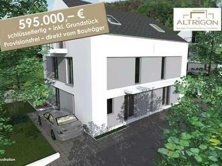 """Neubau von 4 Doppelhaushälften inkl. Grundstück... """"Geschickt geplant – modern gebaut"""""""