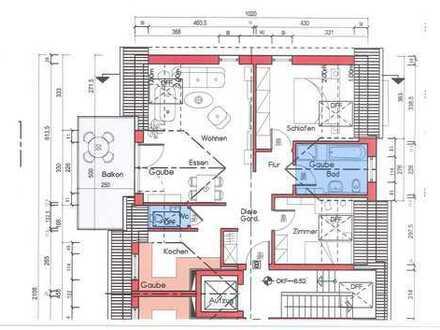 3 Zi. Neubau-ETW im Dachgeschoss in Obertshausen