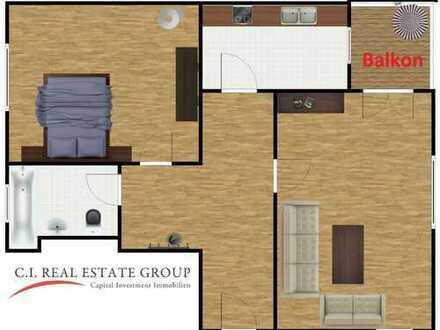 Traumhaftes Dachgeschoss in einer ruhigen Wohnanlage - 2 Zimmer mit Balkon und Blick ins Grüne