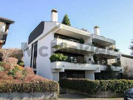 Echte Wohnperle mit Potenzial: 5-Zi.-Maisonette mit Loggia, Dachterrasse und Garten in Weinheim