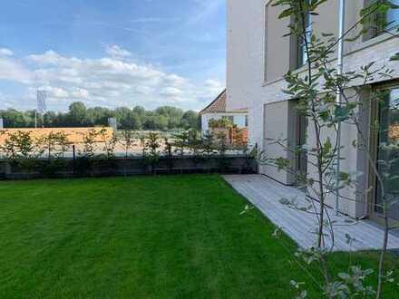 1. Reihe Rheinblick - 118 m² 3 Zimmer Garten Neubau - Wohnen am Fluss