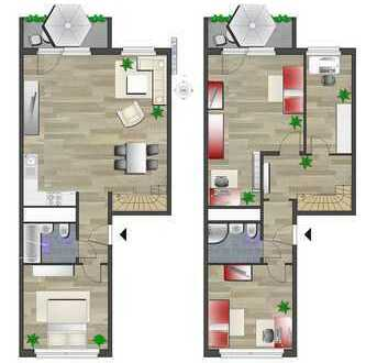 Maisonettewohnung mit 2 Bädern