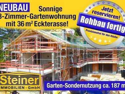 Rohbau+Dach fertig !!! exk.3-Zimmer-Neubau-Garten-Wohnung ca. 95,10 m², LIFT, TG-Platz, WHG-NR.3