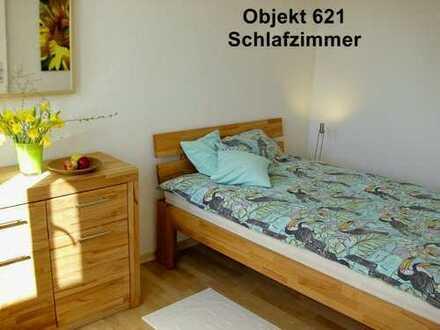 möblierte 2-Zimmerwohnung mit Küche, Dusche/WC, TV, Sonnenterrasse -löffelfertig