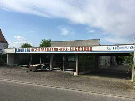 Vielseitig nutzbare Gewerbeliegenschaft in Billigheim-Ingenheim mit angrenzendem Bauplatz