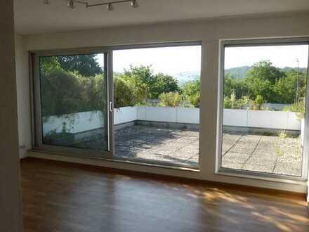 Penthaus-Wohnung Bad Sobernheim, mit grosser Terrasse-Blick ins Nahetal