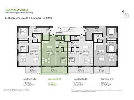 A.08 - 2 Zimmerwohnung im 1.OG mit SW-Ausrichtung - HAUS WIESENQUELLE Feldberg