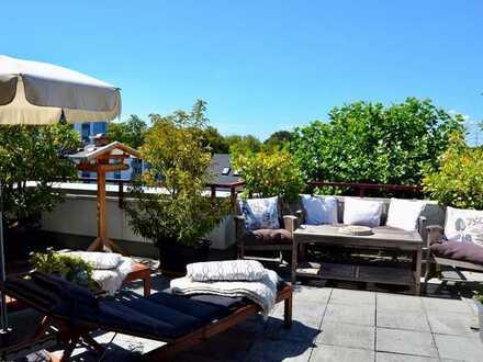 Exklusive Penthouse-Wohnung mit großzügiger Dachterrasse direkt am Naturschutzgebiet!