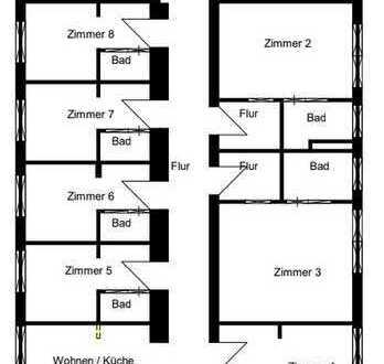 Schöne große Wohnung zu vermieten, perfekt als WG oder für Mitarbeiter einer Firma