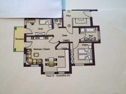Moderne 3-Zimmer Whg. Bj. 2012 zentrale, ruhige Lage.