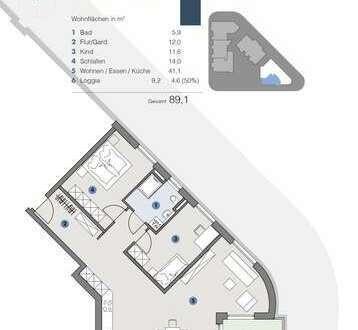 ERDGESCHOSS 3,5 Zimmer Wohnung für Familien - T5 Wohnareal - fortschrittlich, nachhaltig, innovativ