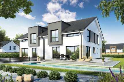 moderne Doppelhaushälfte in gewachsener Wohnanlage sucht junge Bauherrenfamilie