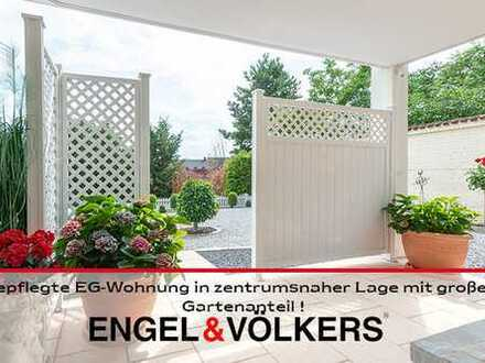 Gepflegte Erdgeschosswohnung in zentrumsnaher Lage mit großem Gartenanteil!