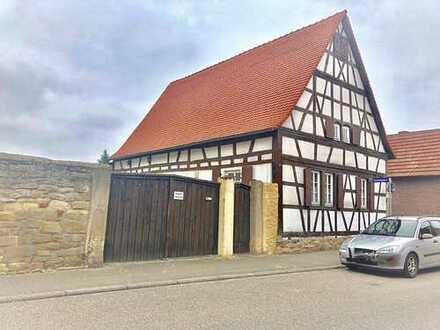 Fachwerkhaus mit großem Baugrundstück in Schifferstadt