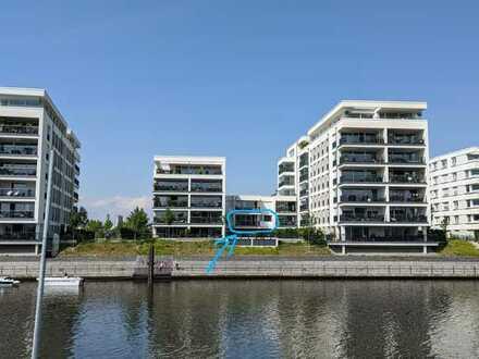 Hafeninsel Offenbach - erste Reihe Wasserblick - großzügige, helle 2,5-Zimmer-Wohnung mit Balkon