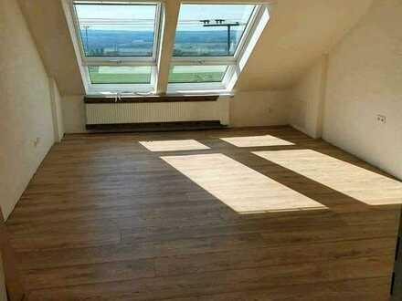 Luxus Aussichtslage RV: Helle, sanierte 3 Zimmer Wohnung mit EBK, Balkon und großem Bad
